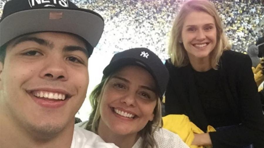 Ronald, Milene e Celina Locks conferem jogo da Seleção na Arena Corinthians - Reprodução/Instagram