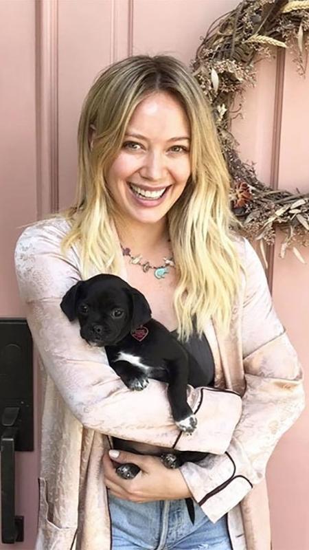 A atriz Hilary Duff e seu novo mascote, Mojito - Love Leo Rescue/Divulgação