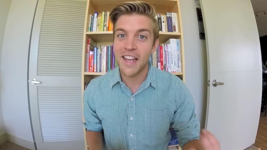 Gavin Roy, youtuber americano que analisa a fluência em inglês dos famosos - Reprodução