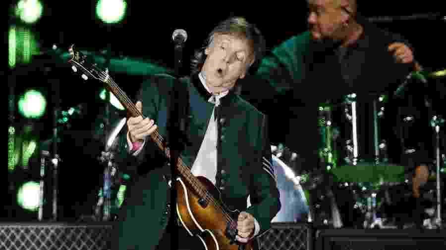 "Paul McCartney se apresenta em Porto Alegre com a turnê ""One On One"" - Diego Vara/Reuters"