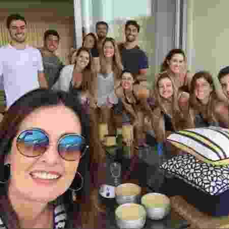 Fátima Bernardes encontra casa lotada de amigos após volta das férias - Reprodução Instagram/Fatima Bernardes