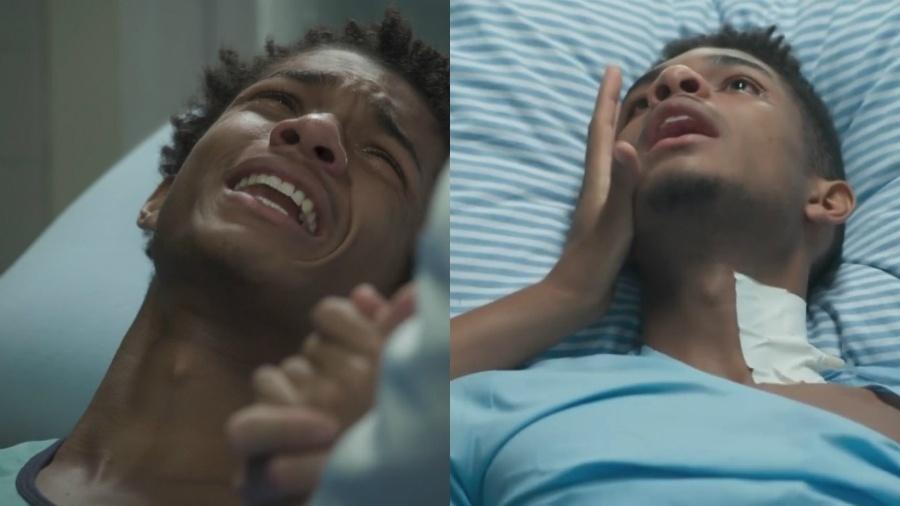 """Juan Paiva como Wesley em """"Totalmente Demais"""" e Anderson em """"Malhação"""": o mesmo drama em duas novelas  - Reprodução/TV Globo/Montagem UOL"""