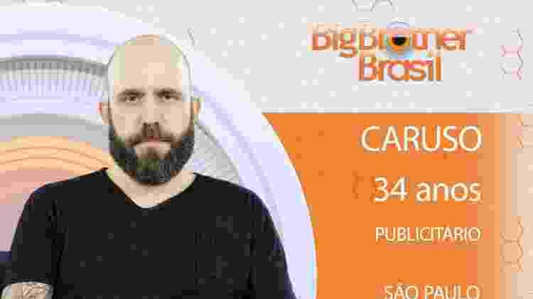 Caruso do BBB18 - Divulgação/TV Globo - Divulgação/TV Globo