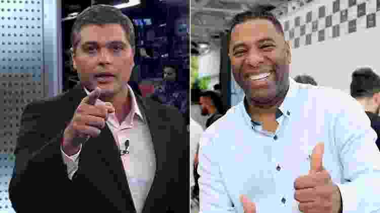 Joel Datena e Netinho de Paula substituíram José Luiz Datena na Band  - Montagem/UOL - Montagem/UOL