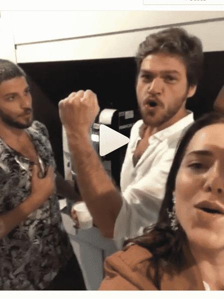 Chay, Emílio Dantas e Leticia Colin - Reprodução/Instagram