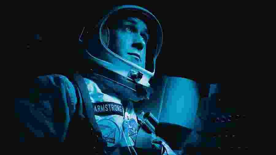 """Ryan Gosling como Neil Armstrong em cena de """"O Primeiro Homem"""" - Daniel McFadden/Universal"""