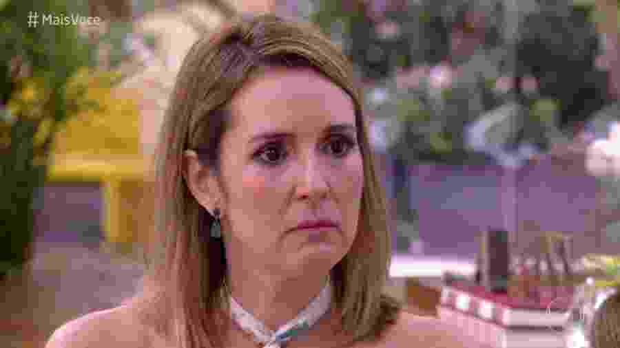 """Renata Capucci se emociona no """"Mais Você"""" - Reprodução/Globo"""