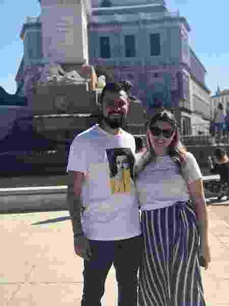 Rafael Bicudo, 30 anos, e a esposa. Os dois se casaram virgens - Arquivo pessoal - Arquivo pessoal