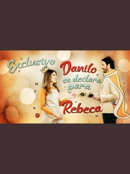 """Danilo Gentili pede Rebeca em casamento no """"Bake Off"""" em """"teaser"""" do SBT - Reprodução"""