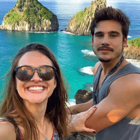 Juliana Paiva e Nicolas Prattes em Fernando de Noronha - Reprodução/Instagram