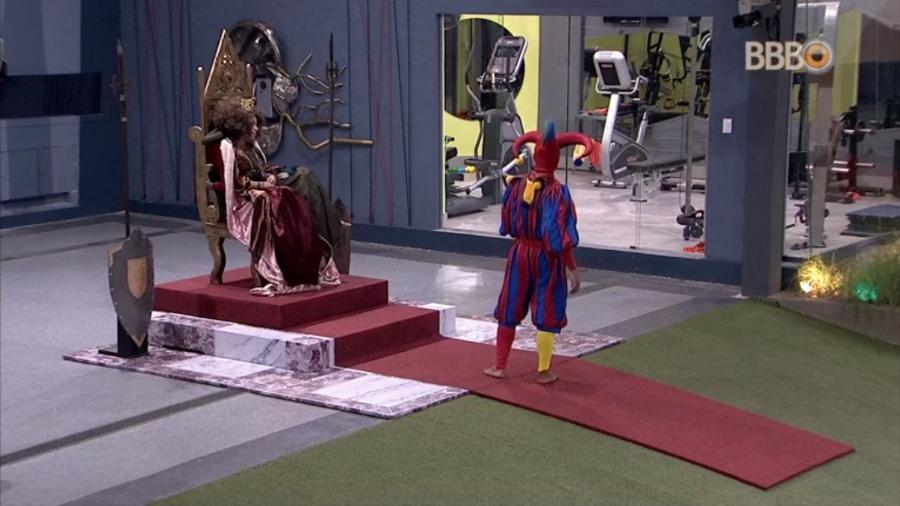Danrley e Elana cumprem castigo do monstro - Reprodução/GloboPlay