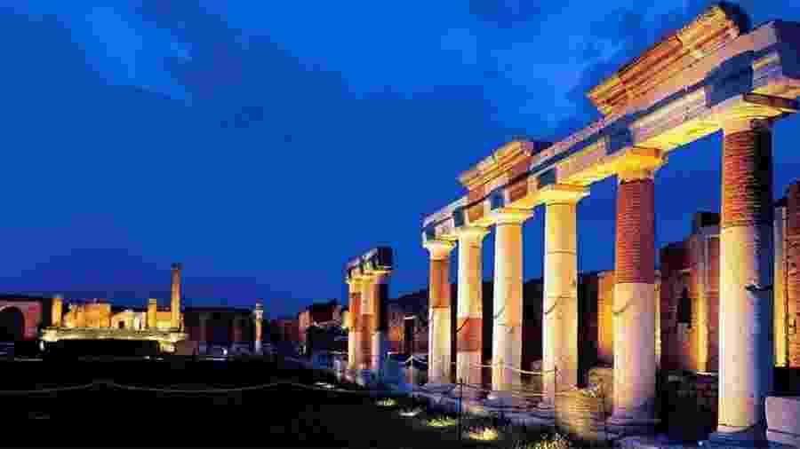 Ruínas de templo antigo da cidade de Pompéia (Itália)   - Gabriel Bouys/AFP