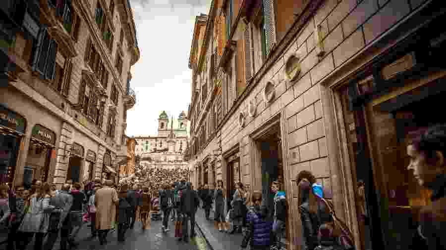A Via dei Condotti é uma das ruas mais chiques de Roma - iStock