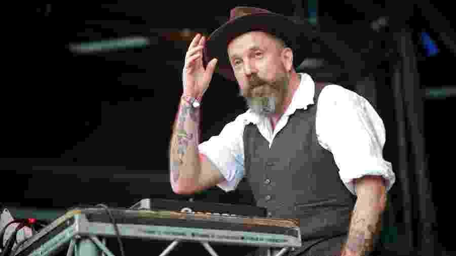 07.08.2011 - Andrew Weatherall no The Apple Cart Festival, em Londres - Hayley Madden/Redferns