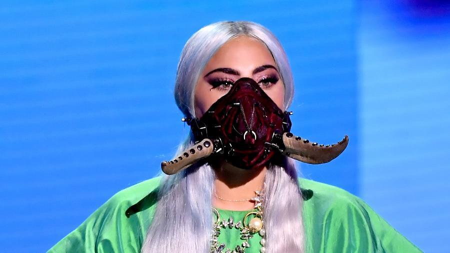 Lady Gaga no  MTV Video Music Awards em agosto de 2020 - Kevin Winter/MTV VMAs 2020/Getty Images for MTV