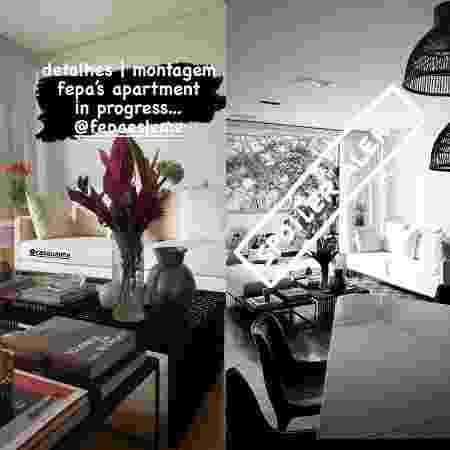 Sala do apartamento de Fernanda Paes Leme em São Paulo - Reprodução - Reprodução