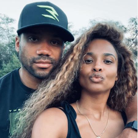 Ciara e o marido, o jogador de futebol americano Russel Wilson - Reprodução