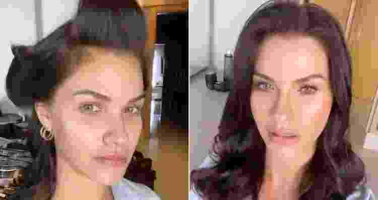 Andressa Suita mostra antes e depois de produção - Reprodução/Instagram - Reprodução/Instagram