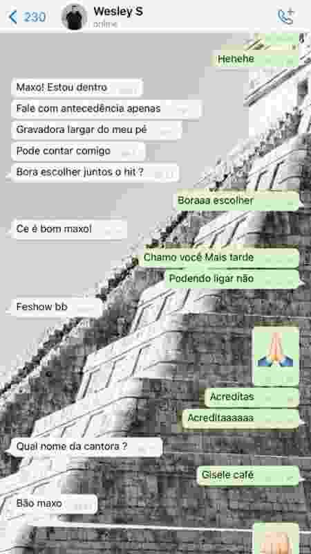 print-fake-safadão - Reprodução/WhatsApp - Reprodução/WhatsApp