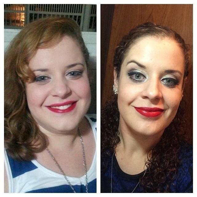 Ex-obesa, Luciana Soares da Costa, 28 anos, perdeu 38 kg após começar a fazer balé. Na imagem, fotos dela antes e depois de começar a dançar.