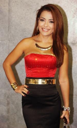 23.jan.2016 - A cantora Li Martins prestigiou o CarnaUOL na noite de sábado em São Paulo
