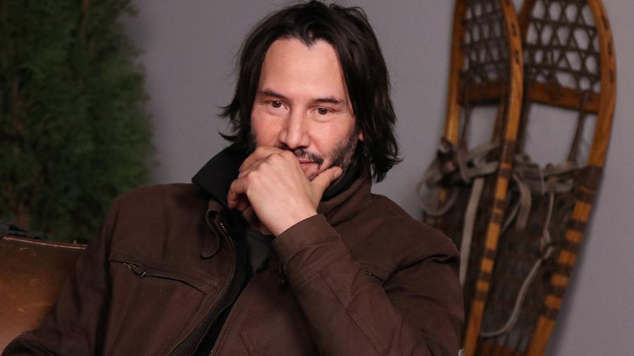 """Keanu Reeves em entrevista para o """"The Hollywood Reporter"""" no Sundance Studio, em Park City, Utah - Getty Images"""