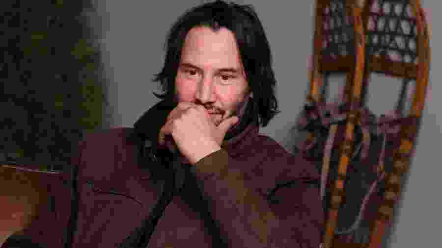 "Keanu Reeves em entrevista para o ""The Hollywood Reporter"" no Sundance Studio, em Park City, Utah - Getty Images"