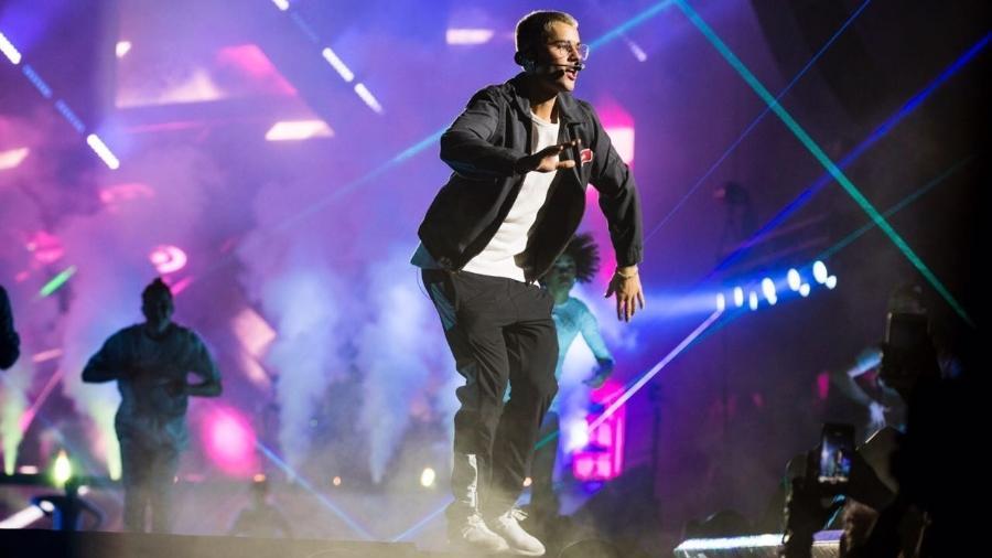Justin Bieber se apresenta neste sábado no Allianz Parque, em São Paulo. O cantor canadense fará uma nova apresentação no domingo - Mariana Pekin/UOL