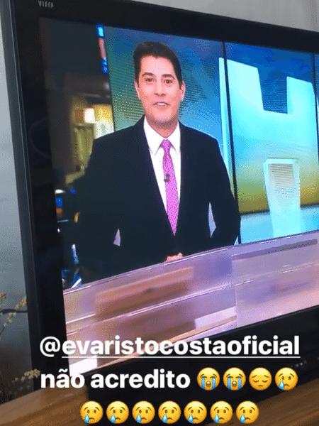 """Yanna Lavigne lamenta despedida de Evaristo Costa do """"Jornal Hoje"""" - Reprodução/Instagram - Reprodução/Instagram"""