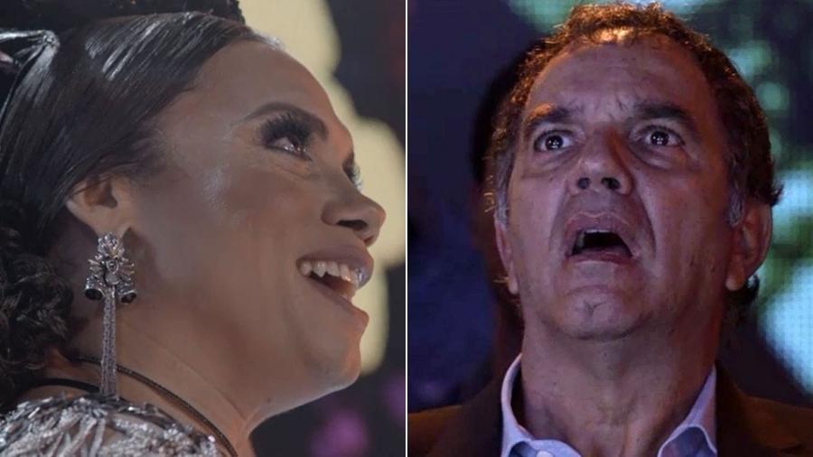 """Eurico se surpreende com apresentação de Nonato em """"A Força do Querer"""" - Montagem/Reprodução/TV Globo"""