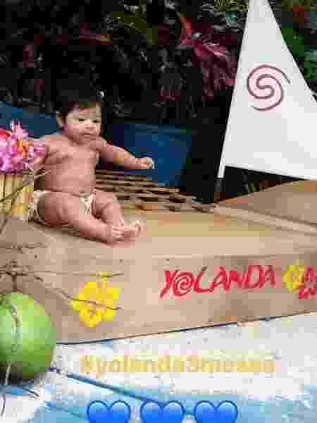 Yolanda completa 3 meses e ganha festa temática - Reprodução/Instagram/julianaalves - Reprodução/Instagram/julianaalves