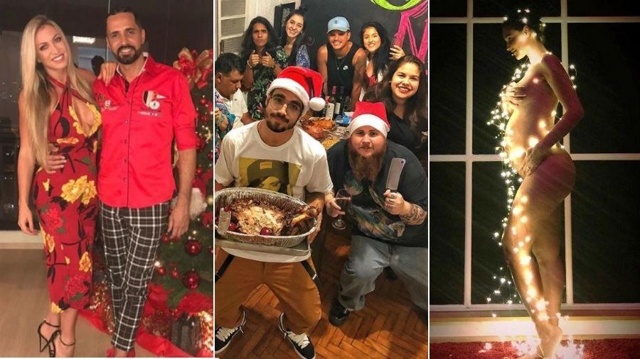 As fotos mais estranhas de Natal dos famosos - Fotomontagem/Instagram
