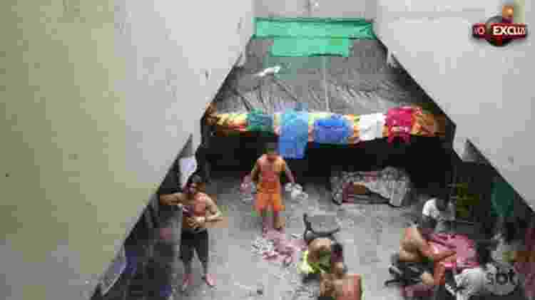 Imagem de Dado Dolabella preso no 33º DP em Pirituba, zona norte de São Paulo - Reprodução/SBT - Reprodução/SBT