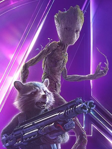 """Groot e Rocket Raccoon em """"Vingadores: Guerra Infinita"""" - Divulgação"""