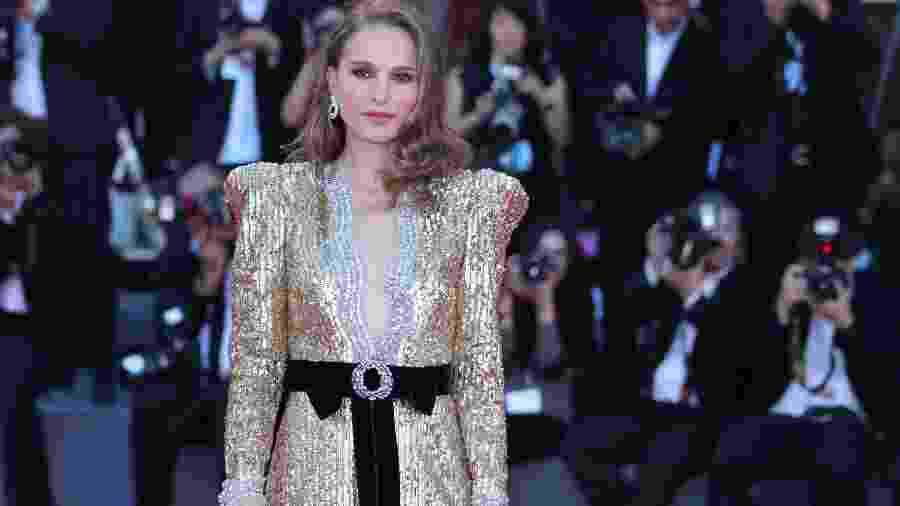 """A atriz Natalie Portman durante a première de """"Vox Lux"""" no Festival de Veneza - Xinhua/Cheng Tingting"""