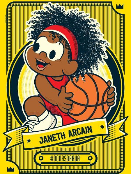 Ex-jogadora de basquete Janeth Arcain foi homenageada pela Maurício de Sousa Produções - Divulgação