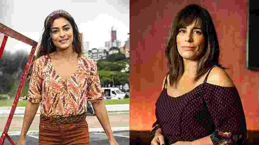 As atrizes Juliana Paes e Gloria Pires - Divulgação / TV Globo