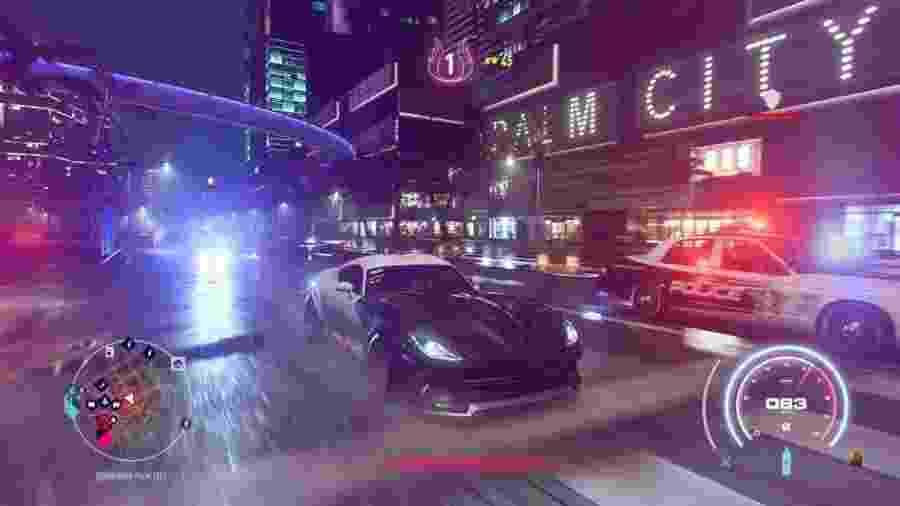 Fugir da polícia, personalizar seu carro e curtir uma trilha sonora: a receita de um NFS Heat perfeito  - Divulgação