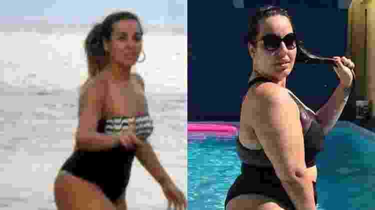 Antes e depois de Bariátrica de Ju Rangel; procedimento causou efeitos colaterais e psicológicos - Reprodução/Instagram - Reprodução/Instagram