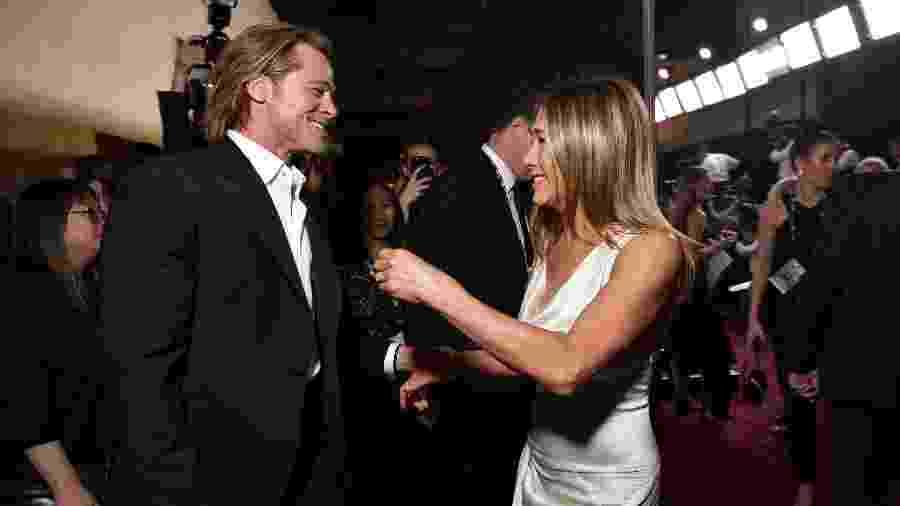 Brad Pitt e Jennifer Aniston se reencontraram no SAG Awards  - Emma McIntyre/Getty Images for Turner