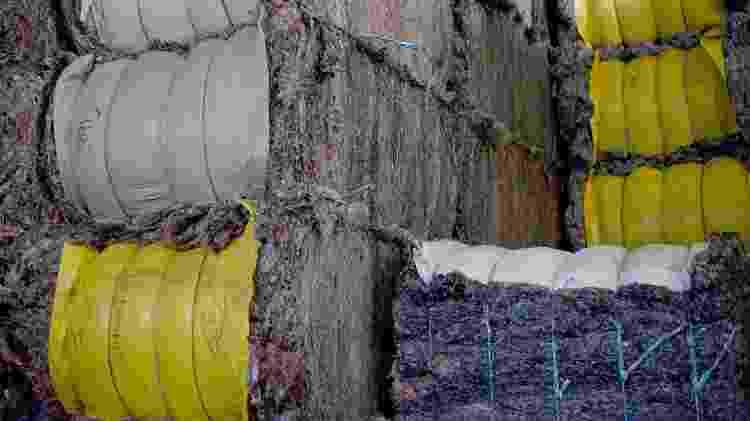 Fibras têxteis durante o processo de reciclagem de tecidos - Renovar Têxtil/Divulgação - Renovar Têxtil/Divulgação