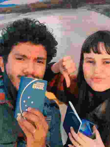 Willy e Sarah barrados na fronteira com o Iraque - Arquivo pessoal - Arquivo pessoal