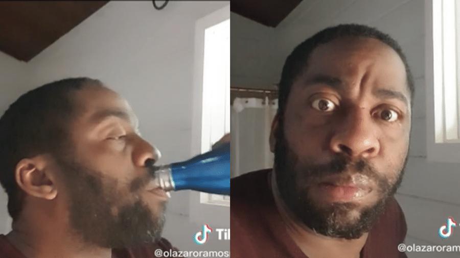 Lázaro Ramos gravou vídeo bem-humorado após confusão do apresentador Marcelo Torres - Reprodução/TikTok
