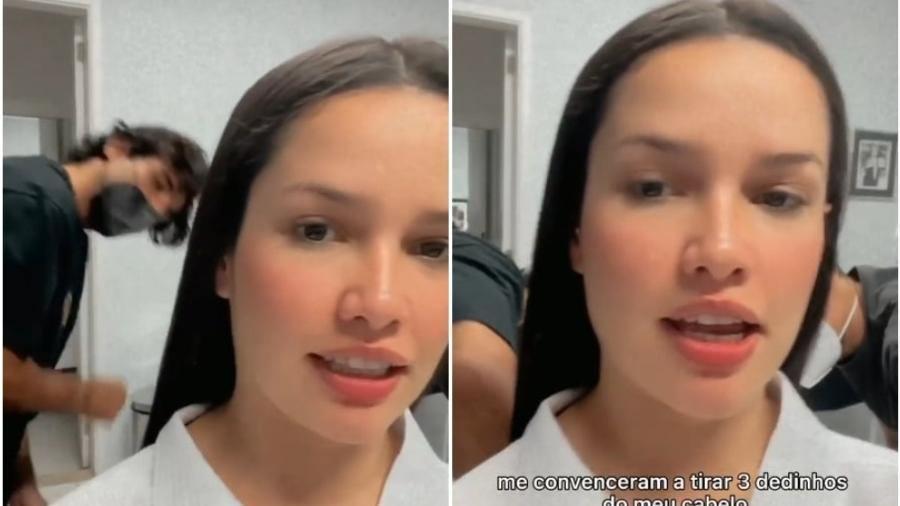 Juliette Freire disse que deixou cortarem três dedos do seu cabelo - Reprodução: Instagram