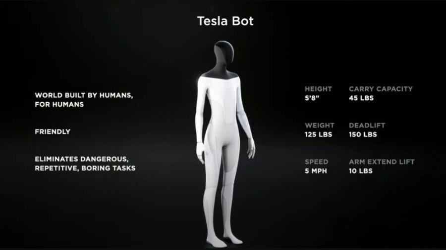 Assim será o Tesla Bot - Divulgação