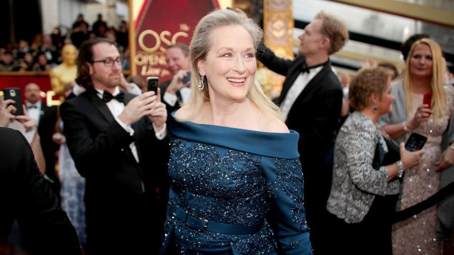 Meryl Streep escolheu vestir peça da grife Elie Saab para o Oscar 2017 - Getty Images