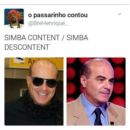 """Disputa entre operadoras e Simba virou até """"meme""""  com Marcelo de Carvalho, dono da Rede TV! - Reprodução Twitter"""