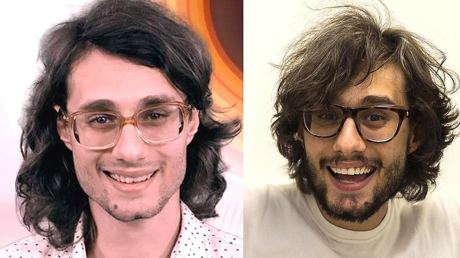 Jornalista na foto de divulgação do BBB17 e após o tratamento - TV Globo/Divulgação e Cadu Nickel/Divulgação