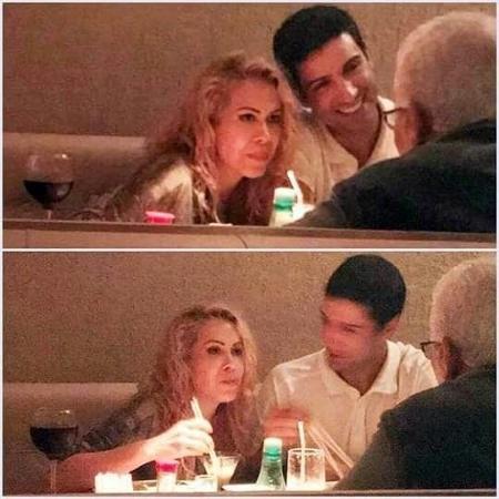 Joelma e o novo namorado, Alessandro Cavalcante, em restaurante no Rio - Reprodução / Instagram