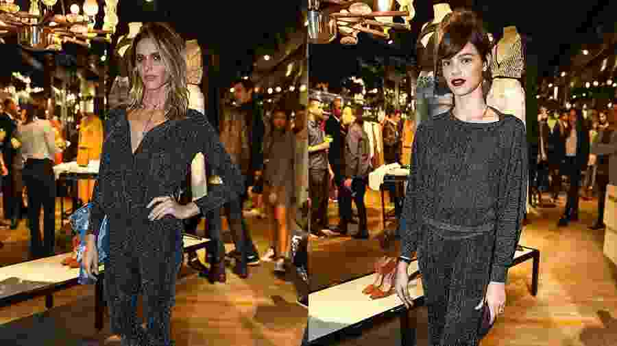 Fernanda Lima e Laura Neiva usam looks parecidíssimos em inauguração de loja em São Paulo - Raphael Castello/AgNews